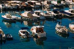 Łódkowaty dok blisko starego miasta Dubrovnik, Chorwacja Harbo Zdjęcie Royalty Free
