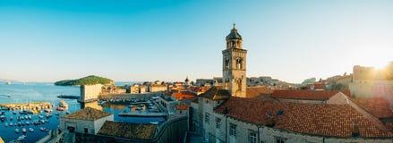 Łódkowaty dok blisko starego miasta Dubrovnik, Chorwacja Harbo Obraz Stock