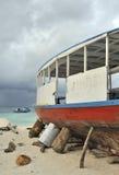 łódkowaty dok suchy Maldivian Zdjęcie Stock