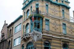 Łódkowaty dom Antwerp Zdjęcie Royalty Free