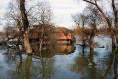 Łódkowaty dom Belgrade Danube Zdjęcie Royalty Free