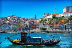 Łódkowaty Douro Fotografia Royalty Free