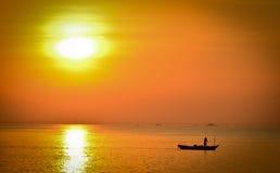 łódkowaty fisher Obrazy Stock