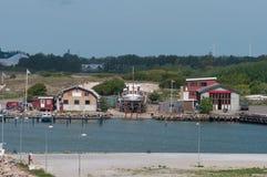 Łódkowaty jard w Rodbyhavn w Dani Zdjęcie Stock