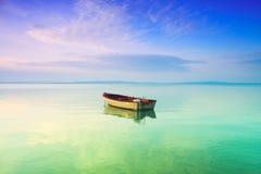 łódkowaty jezioro Obraz Stock