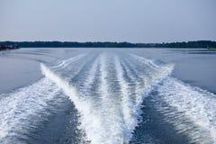 łódkowaty kilwater Obraz Stock