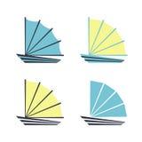 Łódkowaty logo lub ikony Zdjęcia Stock