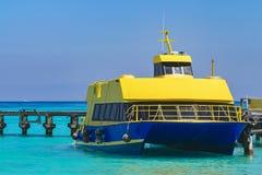 łódkowaty molo Venice Statek w morzu karaibskim Zdjęcie Royalty Free