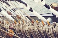 Łódkowaty olinowanie Obraz Stock