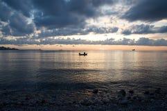 łódkowaty rybak Zdjęcia Royalty Free