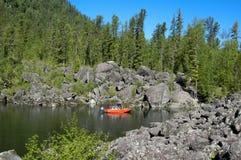 Łódkowaty schronienie w czerni Zdjęcia Stock