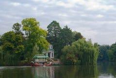 łódkowaty stary park Obraz Royalty Free