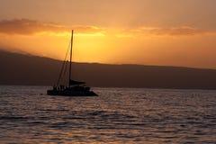łódkowaty sundset Fotografia Stock