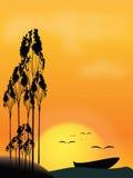 łódkowaty sunseat Obrazy Royalty Free