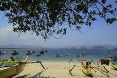Łódkowaty Tanjung Papuma Zdjęcie Stock