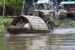 łódkowaty tradycyjny wietnamczyk Obrazy Royalty Free