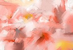 Óleo colorido abstrato, pintura acrílica na textura da lona Curso tirado mão da escova, fundo das pinturas da cor de óleo ilustração royalty free