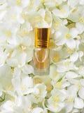 Óleo de Jasmine Attar do indiano Óleo natural da flor do jasmim para o abrandamento e a felicidade fotos de stock royalty free