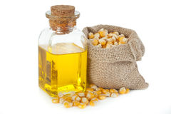 Óleo de milho Foto de Stock