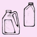 Óleo de motor, garrafa plástica Imagem de Stock Royalty Free