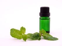 Óleo do aroma no fundo branco Imagem de Stock