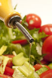 Óleo do molho da salada Fotografia de Stock Royalty Free