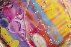 Óleo e água abstratos do fundo Imagens de Stock Royalty Free