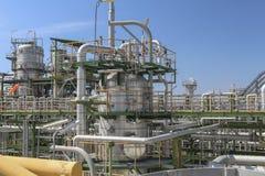Óleo e central química Imagem de Stock