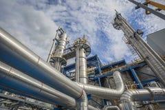 Óleo e central química Fotos de Stock
