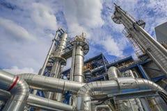 Óleo e central química Imagem de Stock Royalty Free