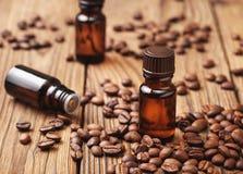 Óleo essencial do café fotografia de stock