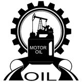 Óleo industry-1 do ícone Imagens de Stock Royalty Free