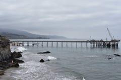 Óleo Pier Carpinteria California de Chevron, 1 fotos de stock