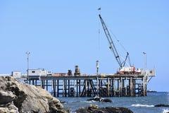Óleo Pier Carpinteria California de Chevron, 3 foto de stock