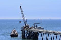 Óleo Pier Carpinteria California de Chevron, 7 foto de stock