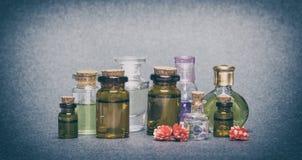 Óleos essenciais aromáticos naturais Foto de Stock