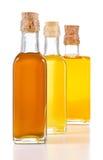 Óleos saudáveis com as gorduras não saturadas isoladas Fotografia de Stock Royalty Free