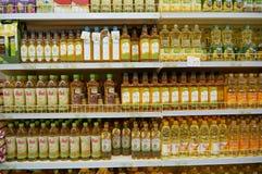 Óleos vegetais fotografia de stock royalty free