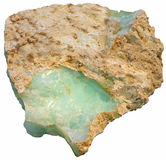Ópalo verde Imagen de archivo libre de regalías