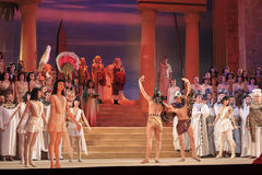 Ópera Aida. Fragmento Fotos de Stock Royalty Free