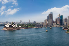 Ópera & cidade de Sydney Foto de Stock Royalty Free