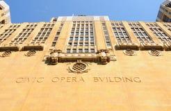 Ópera cívica de Chicago imagenes de archivo