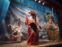 Ópera china de la marioneta Fotos de archivo libres de regalías