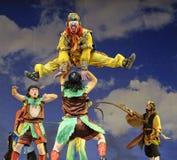 Ópera china: Rey del mono: Montaña llameante Imagenes de archivo