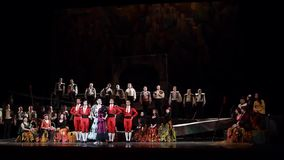 Ópera clásica Carmen almacen de video