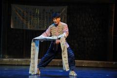 ópera de Jiangxi do cartaz do Grande-caráter uma balança romana Fotos de Stock Royalty Free