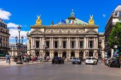 Ópera de nacional París - ópera Garnier de la gran ópera París, franco Imagenes de archivo