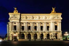 Ópera de Night, París imagen de archivo