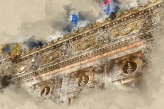 Ópera de París - academia de música nacional Foto de archivo