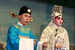 Ópera del Cantonese del festival 2011 del bollo de Cheung Chau Foto de archivo libre de regalías